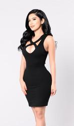 Women Sexy Sleeveless V-Neck Bandage Bodycon Dress