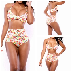 Strap Triangl Swimwear Biquini  Sexy Colorful Multi Color Swimwear Women Bikini Bandeau Swimsuit Top And Bottom Bikini Set