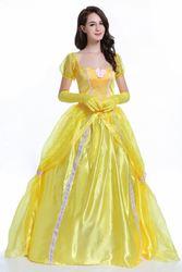 Kiss or Fight Belle Princess Dress Adult Halloween Costume