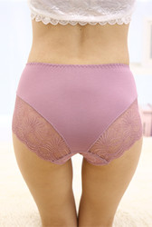 Purple Lace Floral Seamless Panty