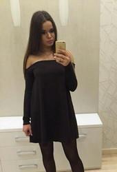 European Slash Neck Long Sleeve Sexy Mini Skirt Black