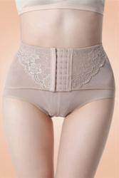 High Waisted Abdomen Underwear Apricot