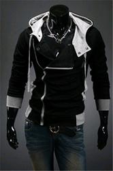 Hot sale styles Men's Autumn and winter cardigan Korean men's Hoodie Jacket Black