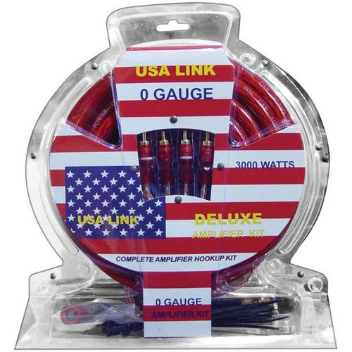 *USA Link* 0 Gauge amp wiring kit w/ RCA