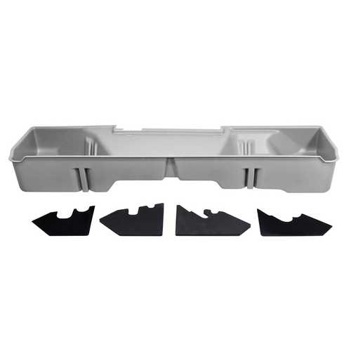DU-HA Underseat Storage Gun Case 07-13 GMC & Chevy Light Gray