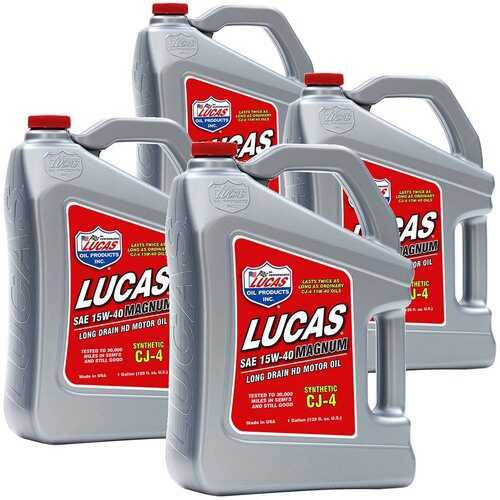 (4 Pack) Lucas Oil Synthetic SAE 15W-40 CJ-4 Truck Oil 1 Gallon
