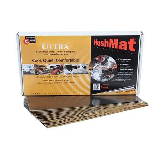 Hushmat Floor/Dash Kit  Black; 20 Sheets; 12 in. x 23 in.; 38.75 sq. ft.