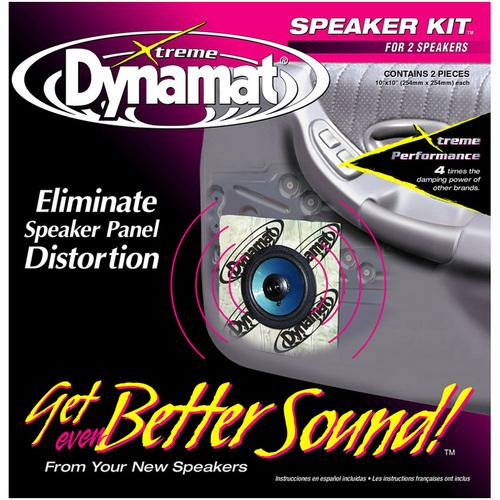 "DYNAMAT XTREME 1.4 SQ. FT. SPEAKER KIT; 2 PCS 10""x10"""
