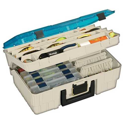 Plano Two Level Magnum  3500 Beige w Blue Tackle