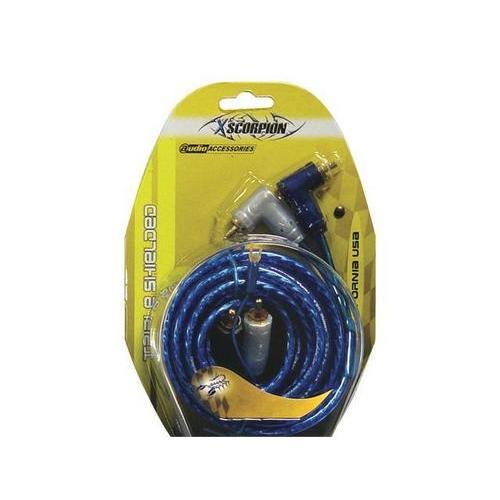 RCA CABLE 15' XSCORPION BLUE TRIPLE SHIELDED W/REMOTE WIRE