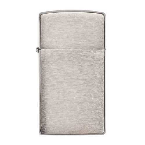 Zippo *1600* Windproof Lighter Slim Brushed Chrome