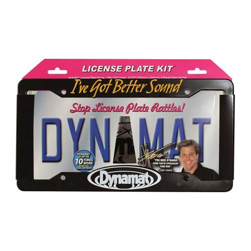 "DYNAMAT LICENSE PLATE KIT 4""x10"" XTREME + FRAME"