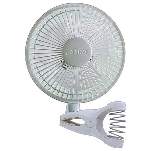 """Lasko 6"""" Clip Fan White 2-Speed"""