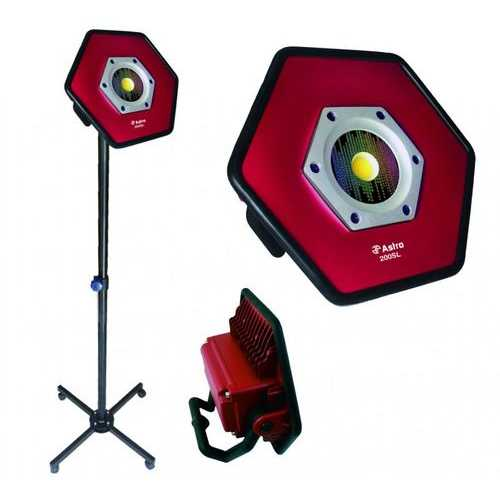 Astro 200SL (2 Pieces - Stand & Light) Sunlight Rechargeable Color Match Flood Light Rolling Stan