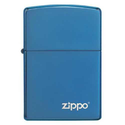 Zippo Windproof High Polish Blue Lighter w/Zippo Logo