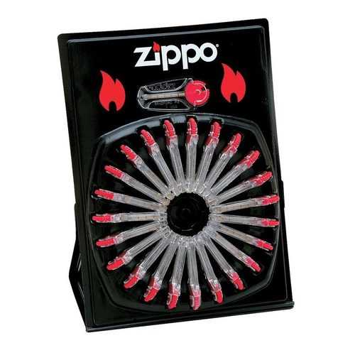 Zippo Windproof Lighter Flints - Display Wheel (24 Dispensers Per Card 6 Flints per Dispenser)