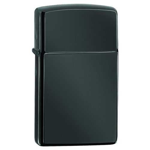 Zippo Windproof Lighter Ebony Finish Slim Case