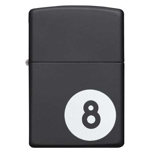 Zippo Windproof Lighter Billiards 8-Ball Black Matte