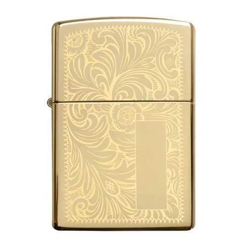 Zippo Windproof Lighter Venetian High Polish Brass (Venetian Brass)