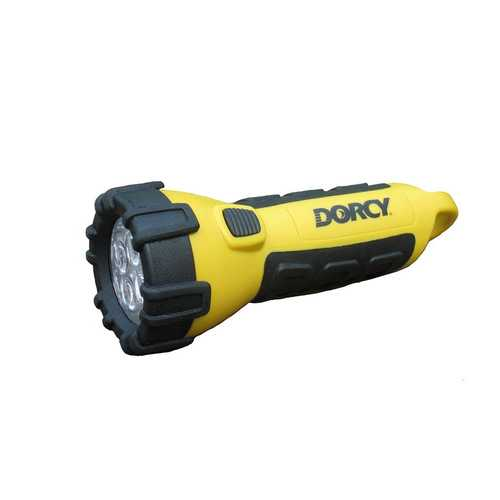 Dorcy 3AA LED Floating Flashlight with Carabiner YELLOW