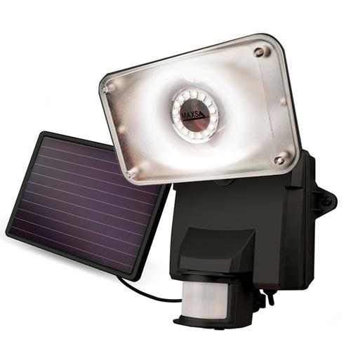 Maxsa SOLAR-POWERED LED SECURITY FLOODLIGHT - BLACK