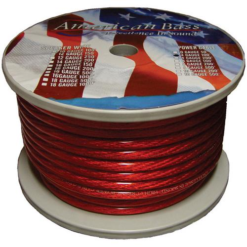 WIRE AMERICAN BASS 4 GA. RED 100 FT. ROLL(2104R)*AB1666(R)*