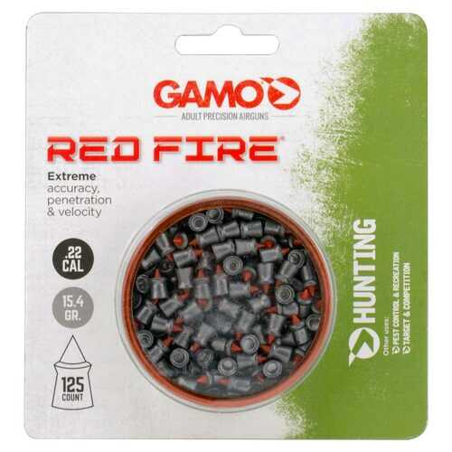 Gamo Red Fire .22cal Pellets (125 Count) - Blister Pack