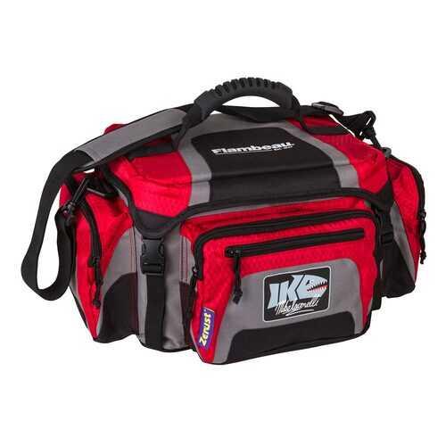 Flambeau 400ZK1 IKE 400 Tackle Bag Fishing Org Shoulder Satchel Gray Red