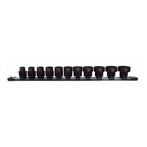 Astro  Tool 78211 SAE 1/2In Drive Low Profile Nano Impact Sockets 11 Piece