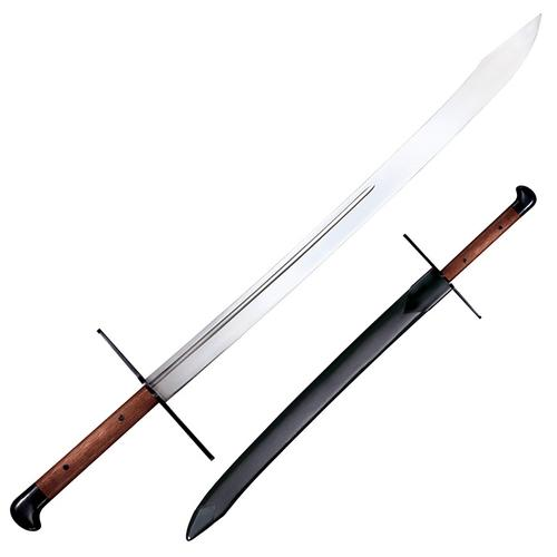 COLD STEEL GROSSE MESSER WITH LEATHER SCABBARD