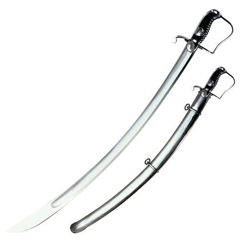 "COLD STEEL 1796 Light Cavalry Saber 33"" Carbon Steel Blade with Steel Scabbard"