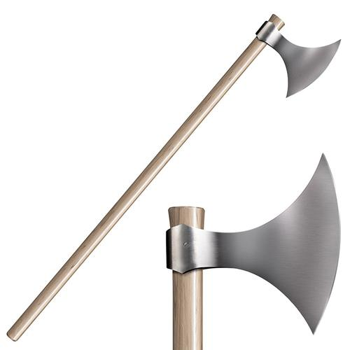 """COLD STEEL Viking Axe 52"""" Overall Hickory Handle"""