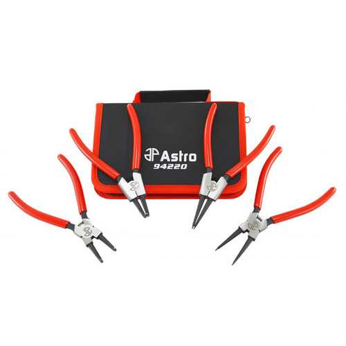 Astro Tools 94220 7In Internal External CrV Snap Ring Pliers 4 Piece 0.050In