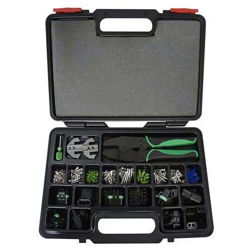 Astro 9478 Weather Pack Changeable Ratcheting Crimping Tool & Accessory Set 220 Piece