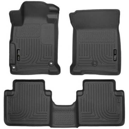 Husky Liners Front & 2nd Seat Floor Liners  13-17 HONDA ACCORD SEDAN-Black