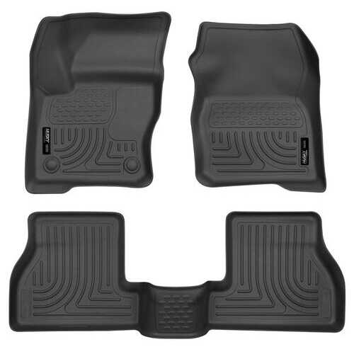 Husky Liners Front & 2nd Seat Floor Liners  12-15 FORD FOCUS-Black