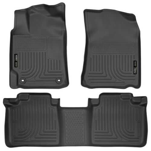 Husky Liners Front & 2nd Seat Floor Liners  12-17 TOYOTA CAMRY-Black
