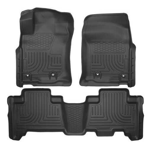 Husky Liners Front & 2nd Seat Floor Liners  13-2020 4RUNNER/ 14-19 GX460-Black