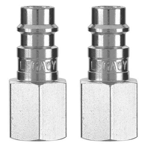 "Flexzilla Pro High Flow Plug 1/4"" FNPT 1/4"" Body 2-Pack"