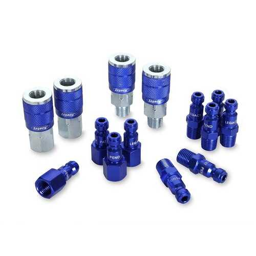 ColorConnex Plug Type C 1/4in MNPT 1/4in Body Blue 8 Pack