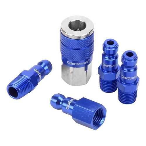 ColorConnex 5 Piece Coupler & Plug Kit (Blue)