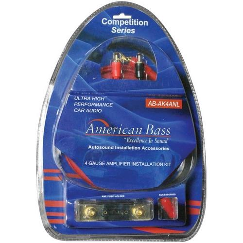 American Bass 4Gauge Wiring kit ANL Fuse **ABAK4ANL**