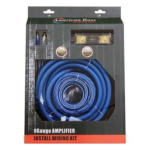 American Bass 0 Gauge Wiring Kit 250A ANL Fuse