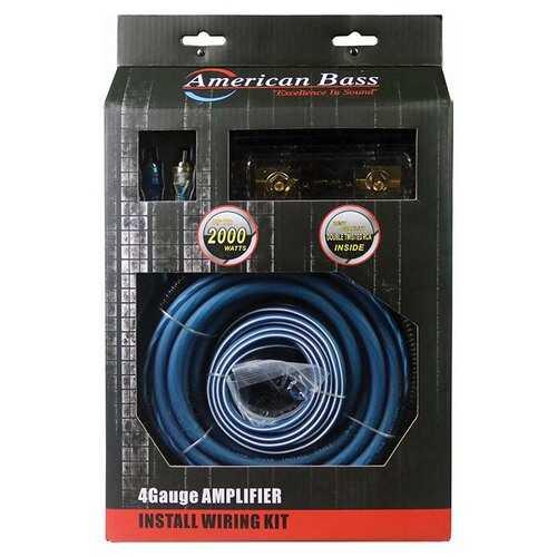 American Bass 4 Gauge Wiring kit ANL Fuse