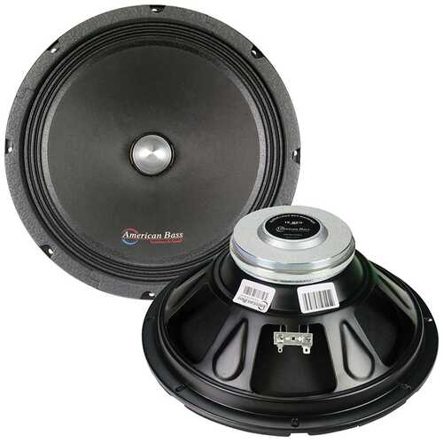 """American Bass 10"""" Midrange with Neodymium Magnet 450W Max Sold each"""
