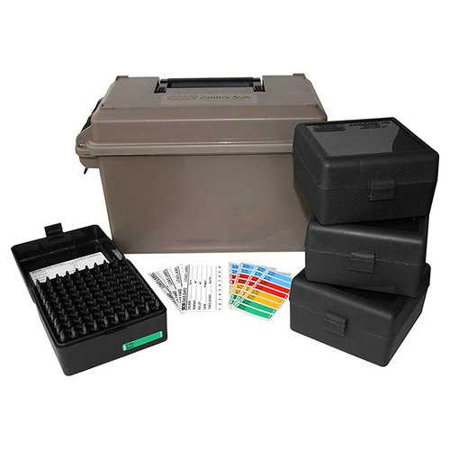 MTM 223 Ammo Can for 400 rd. Includes 4 each RS-100's Dark Earth