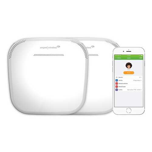 Amped ALLY PLUS Whole Home Smart WiFi System Kit 15000 sqft