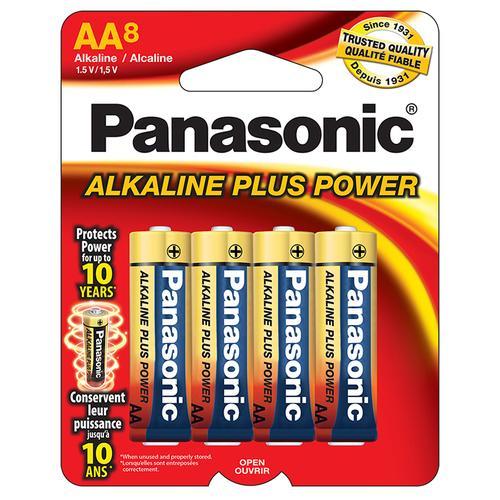 "Panasonic Alkaline Size ""AA"" Plus Power (8-Pack)"