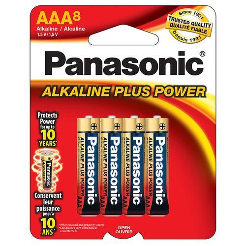 "Panasonic Aklaline Size ""AAA"" Plus Power (8-Pack)"