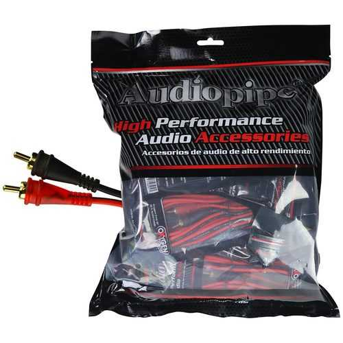 Audiopipe 17ft Oxygen Free RCA Cable - 10pcs per bag